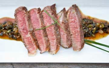 Grass-Fed Beef Steaks w/ Sesame-Ginger Sauce
