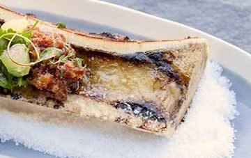 Roasted Grass-Fed Beef Marrow & Toast